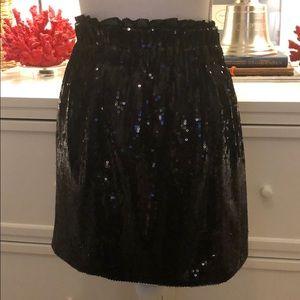🥂Rachel Roy Sequined Mini Skirt w/ Paperbag Waist